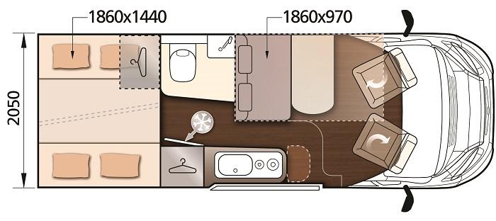 Camper plattegrond